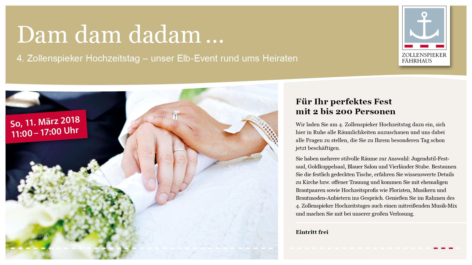 Zollenspieker Hochzeitstag in Hamburg am 11.03.2018, Zollenspieker ...