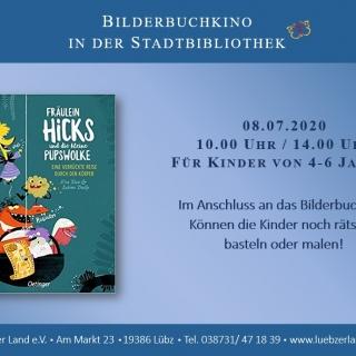 """ABGESAGT! Bilderbuchkino in der Stadt- und Kinderbibliothek Lübz """"Fräulein Hicks und die kleine..."""""""