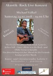 Bottrop: Akustik-Rock Live-Konzert mit Michael Völkel in der Galerie-7