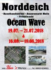 Kunsthandwerker- und Bauernmarkt Norddeich Ocean Wave Juli