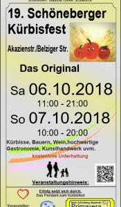 19. Schöneberger Kürbisfest