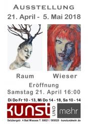 Kunstausstellung - Tatjana Raum / Agnes Wieser