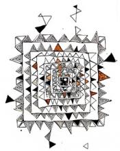 Abya Yala Malerei und Zeichnungen von  Joaquin Allerding und Augusto Pacheco