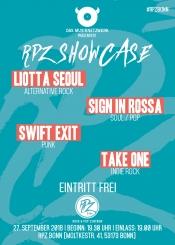 Das Musiknetzwerk präsentiert: RPZ Bonn Showcase - 27.09.2018