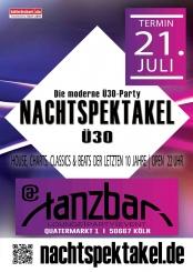 NACHTSPEKTAKEL Ü30 – Die moderne Party in Köln !