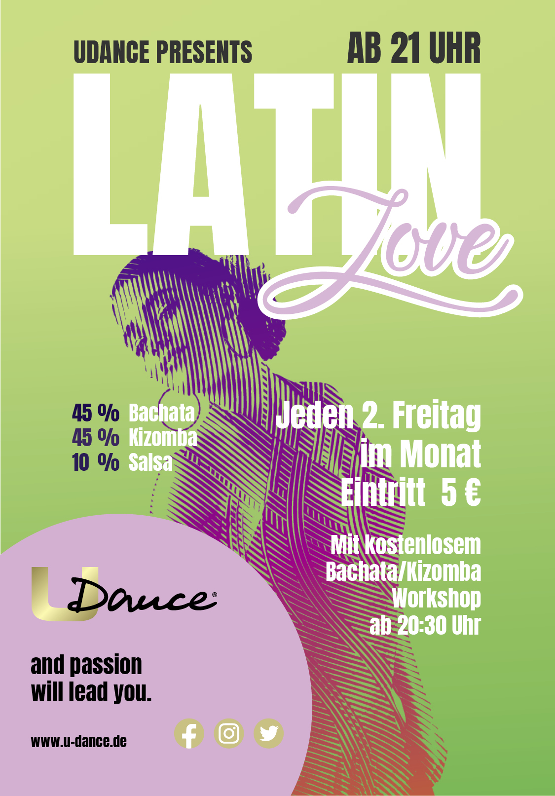 Latin Love Party mit Bachata, Kizomba und Salsa