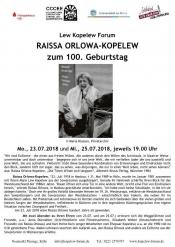 Raissa Orlowa-Kopelew Zum 100. Geburtstag