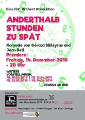 """""""  Anderthalb  Stunden  Zu  Spät  """"  Komödie  Von  Gérald  Sibleyras, Regie H.p. Wilbert"""