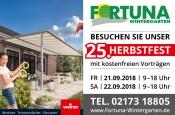 25. Herbstfest mit Planungstagen rund um Wintergärten Sommergärten Sonnenschutz und mehr im Rheinlan