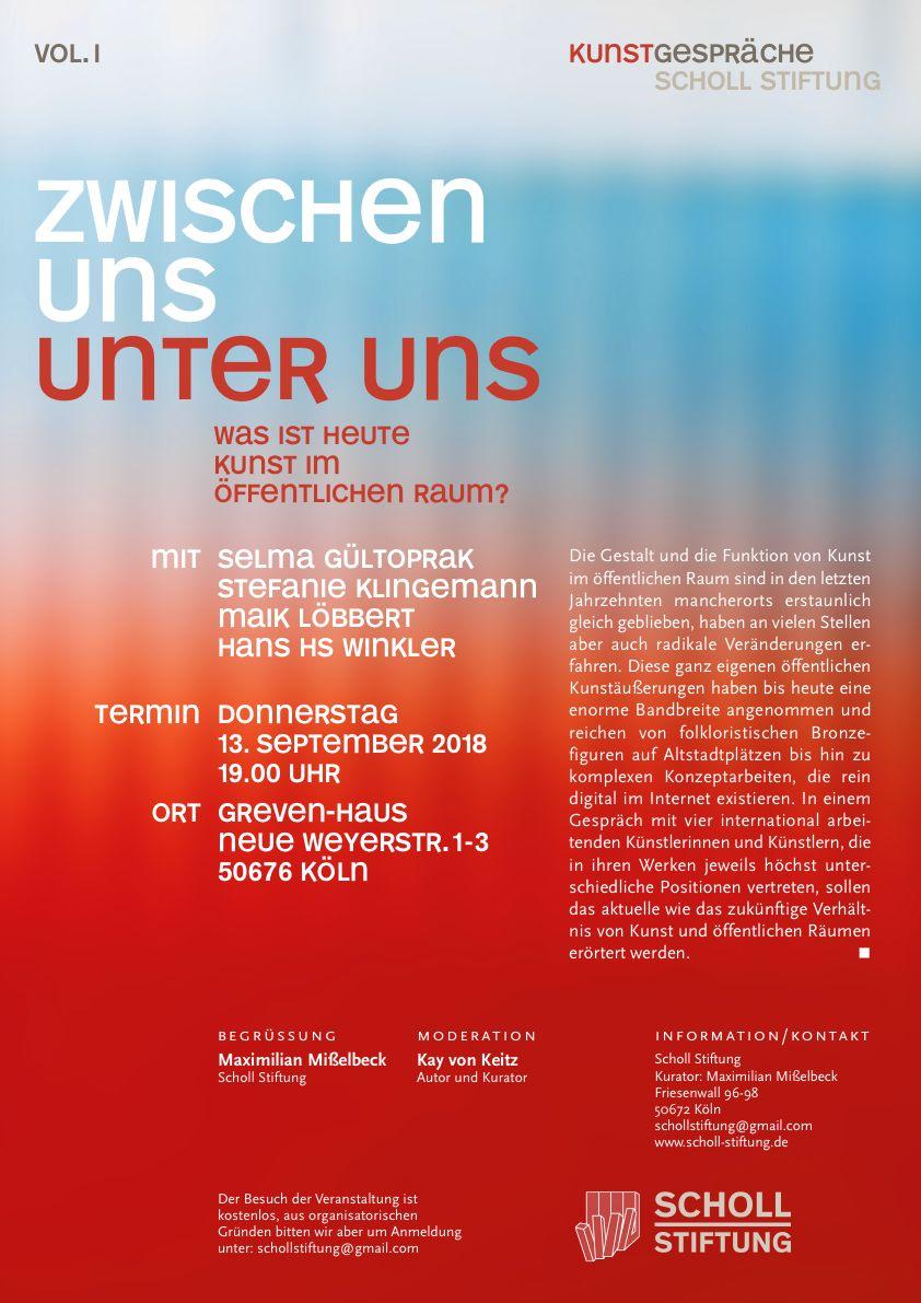 Kunstgespräche Scholl Stiftung