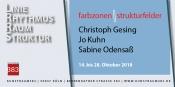 Ausstellung Farbzonen/Strukturfelder