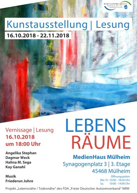"""Kunstausstellung   Lesung """"LebensRäume"""""""