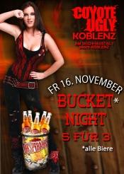Bucket Night - 5 für 3 im Coyote Ugly Koblenz