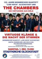 Männerchor Quartett Lied hoch, The Chambers und Polizeichor Kopenhagen