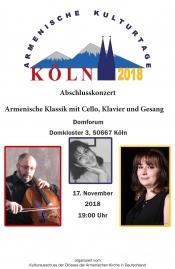 Konzert - Armenische Klassik mit Cello, Klavier und Gesang