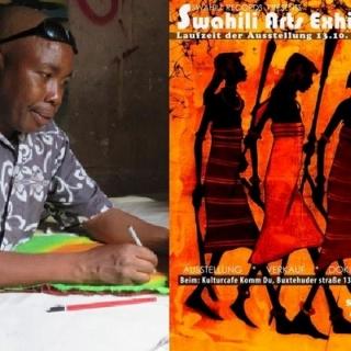 SWAHILI ARTS EXHIBITION | Batiken des Künstlers Filex Msalu aus Tansania