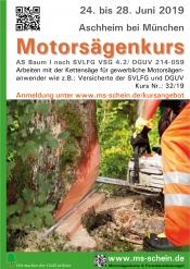 Motorsägenkurs Für Gewerbl. Motorsägenanwender As-baum I Nach Vsg 4.2/Dguv 214-051