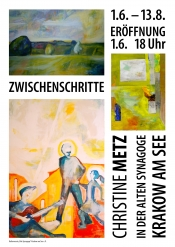 """Ausstellung """"Zwischenschritte"""" von Christine Metz in der Alten Synagoge"""