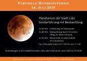 Partielle Mondfinsternis Sonderführung mit Beobachtung Planetarium Lübz