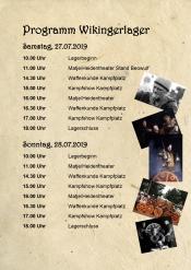 Wikingerlager 27. und 28.7. auf dem Campingplatz Familie Heide Klein Waabs