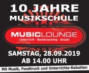 10 jähriges Jubiläum der Music Lounge