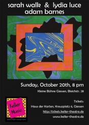 Keller Music presents Lydia Luce & Sarah Walk and Adam Barnes in concert