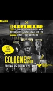 Cologne Rap Night - Sugar Mmfk Live On Stage + 14 Acts