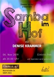 Samba im Hof - mit Denise Krammer