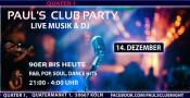 Paul's Club Party: Live-Musik & DJ mit 80er bis heute