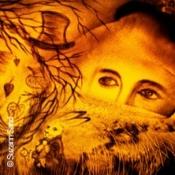 Alice im Wunderland - Sand Malerei Show