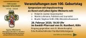 Symposium zum 100. Geburtstag Egino Weinert
