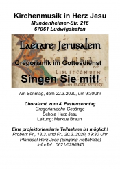 Gregorianik im Gottesdienst – Singen Sie mit!