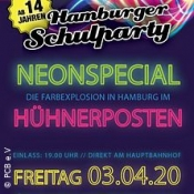 Hamburger Neonlaser Schulparty