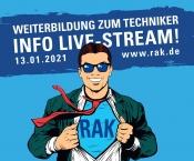 INFO LIVE-STREAM: Weiterbildung zum Techniker