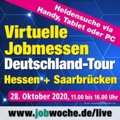 Virtuelle Job-, Aus- und Weiterbildungsmesse für Hessen + Saarbrücken