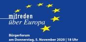 """Online Bürgerforum """"Mitreden über Europa"""""""