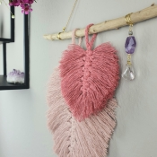 """Wallhanging """"Crystal & Feather"""""""