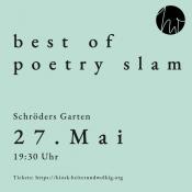 Schröders Garten Freiluftbühne: Best of Poetry Slam