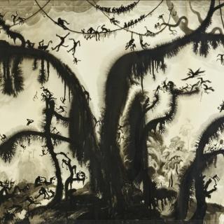 … kaum war der Vogel fertig gemalt, flog er davon … Märchenerzählung in der Ausstellung