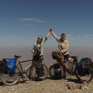 Unterwegs mit dem Fahrrad im Oman