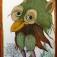 Verrückte Vögel mit Randnotizen