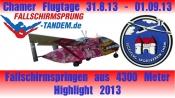 Flugplatz Cham Fallschirmspringen Tandemsprung Oberpfalz