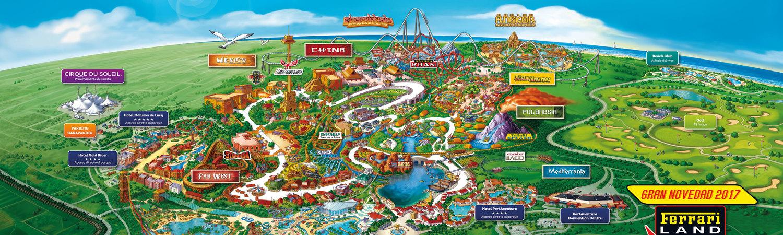 parc attraction espagne carte