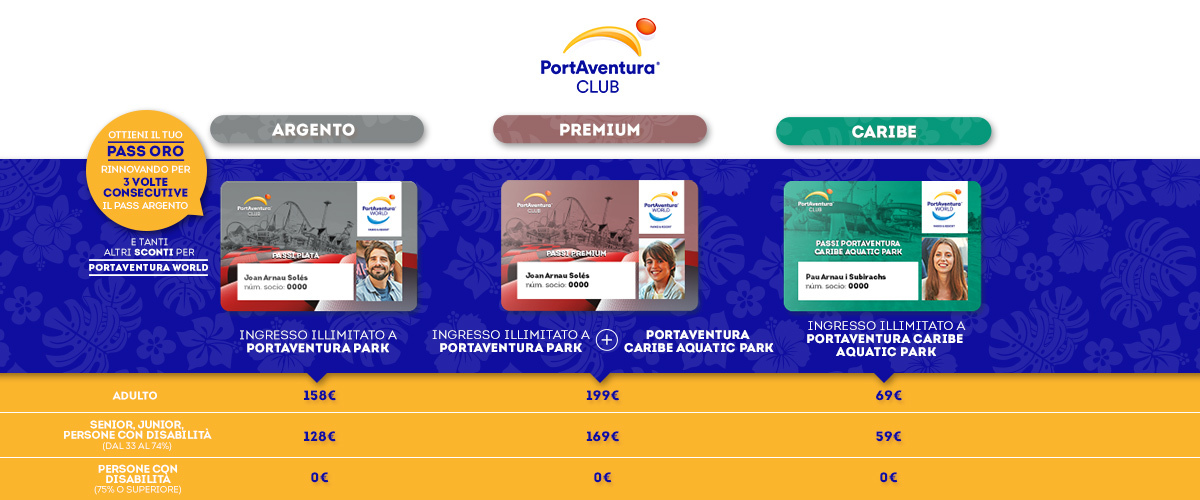 Club PortAventura - Slider Pases (it)