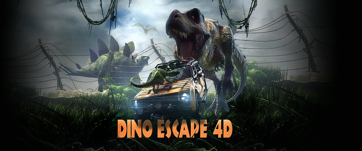 Dino Escape 4D - slider landing