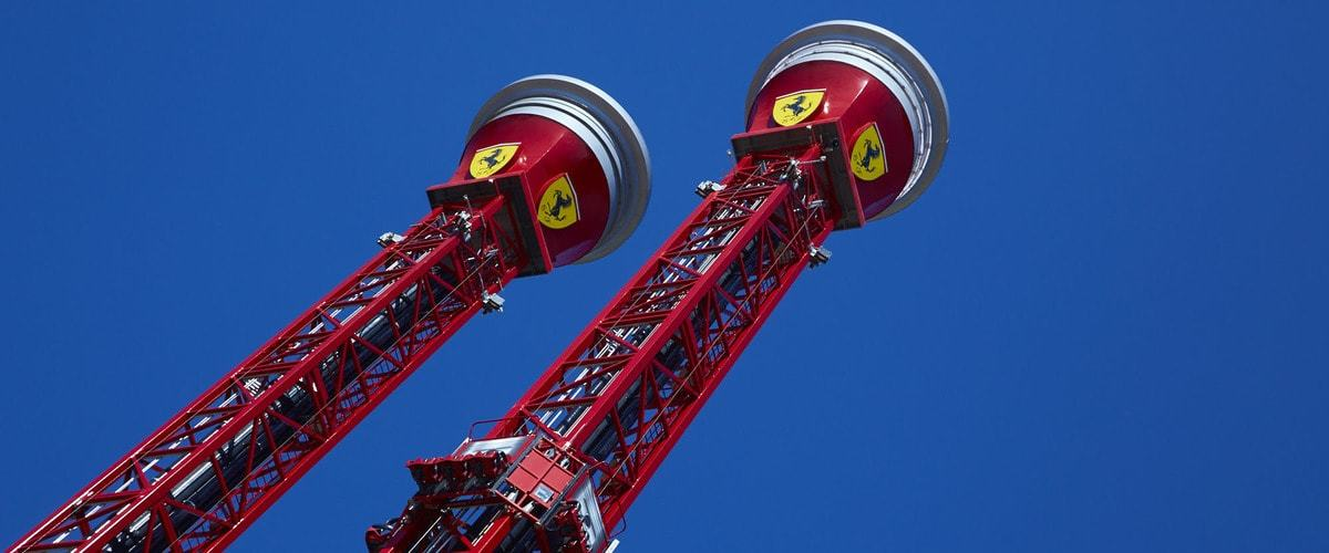 Free Fall Tower Ferrari Land Attractions