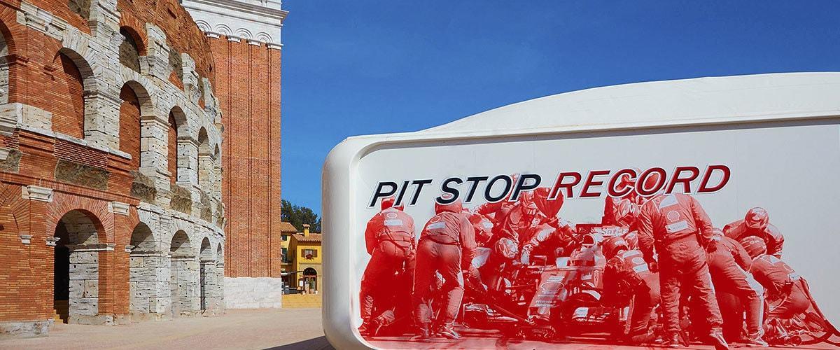 Auto Pit Stop Record Ferrari Land 1