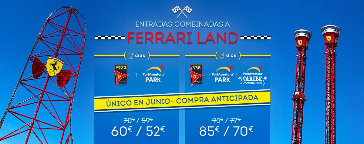 Home - Mosaico - Promo Entradas Ferrari Land Offer June (ES)