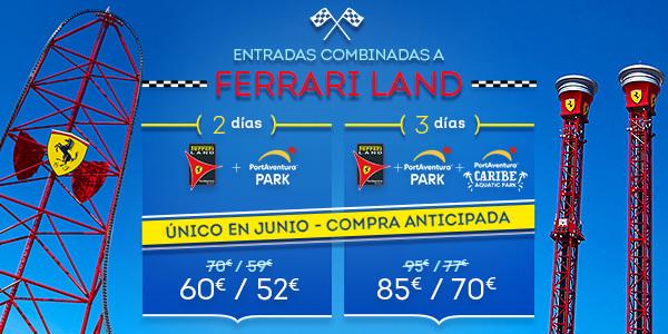 Promoción - Landing Principal Promociones - Promo Entradas Ferrari Land Offer June (ES)