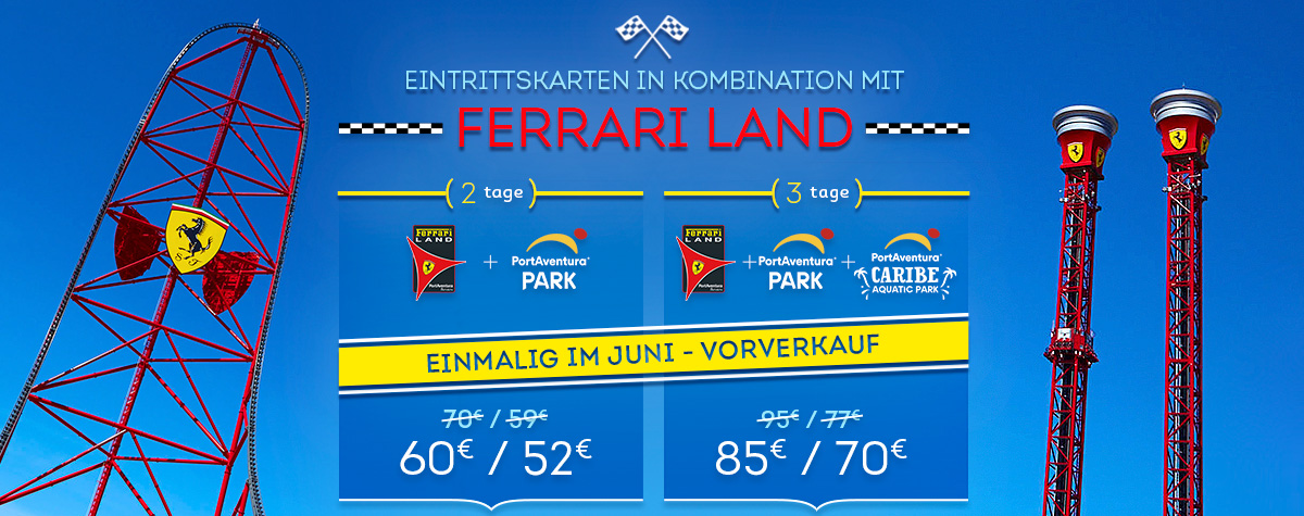 Home - Mosaico - Promo Entradas Ferrari Land Offer June (DE)